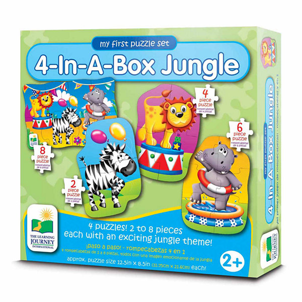 The Learning Journey My First Puzzle Sets 4-In-A-Box Puzzles - Jungle