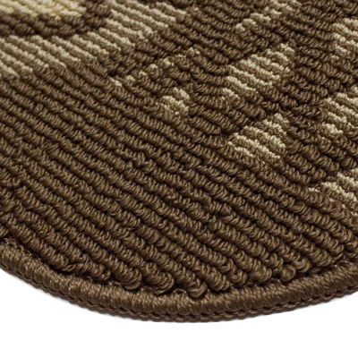 Structures Day Time Coffee Textured Loop Wedge Kitchen Mat