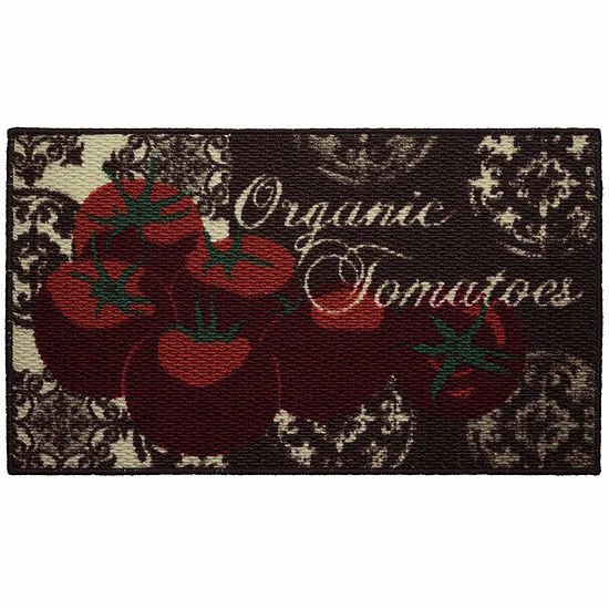 Structures Tomatoes Textured Loop Oblong Kitchen Mat