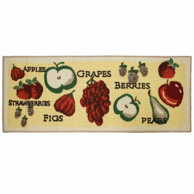 Structures Tossed Fruits Textured Loop Kitchen Mat