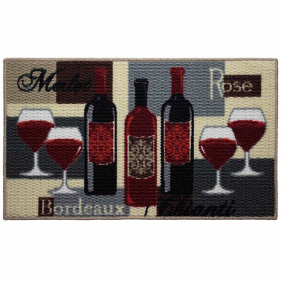 Structures Wine Time Textured Loop Oblong Kitchen Mat