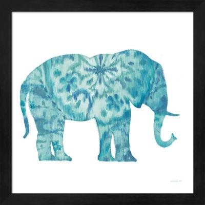 Metaverse Art Boho Teal Elephant I