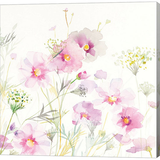 Metaverse Art Queen Annes Lace and Cosmos on WhiteII