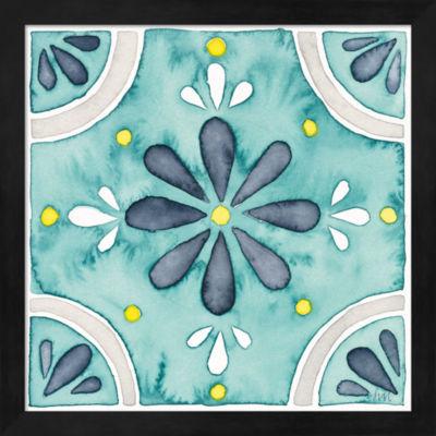 Metaverse Art Garden Getaway Tile I Teal