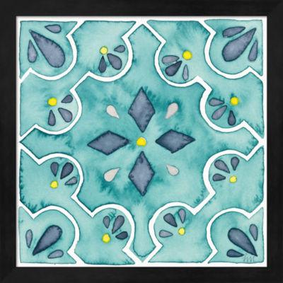 Metaverse Art Garden Getaway Tile II Teal