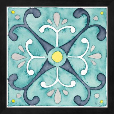 Metaverse Art Garden Getaway Tile III Teal