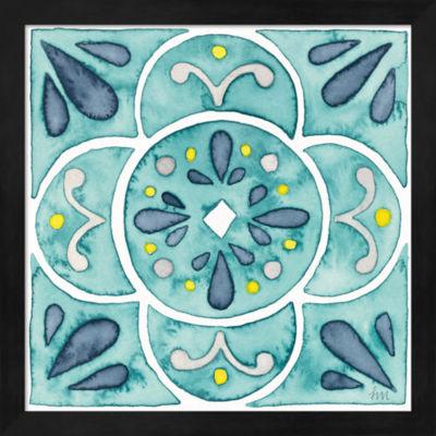 Metaverse Art Garden Getaway Tile VII Teal