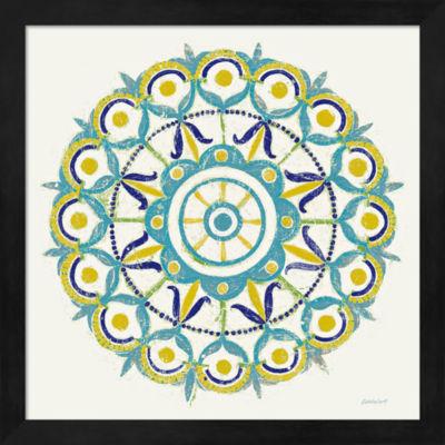 Metaverse Art Lakai Circle V Blue and Yellow