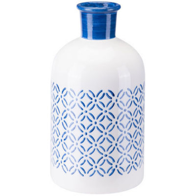 Bright Steel Blue Decorative Bottle