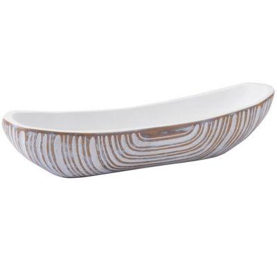 White Poly Decorative Bowl