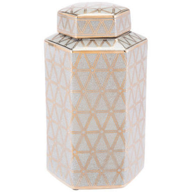 Link Hex Covered Decorative Jar