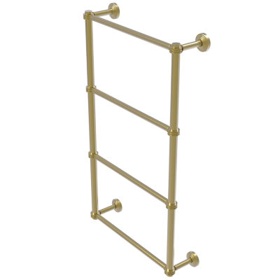 Allied Brass Waverly Place Collection 4 Tier 24 Inch Ladder Towel Bar with Dotted Detail