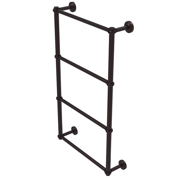 Allied Brass Waverly Place Collection 4 Tier 24 Inch Ladder Towel Bar with Twisted Detail