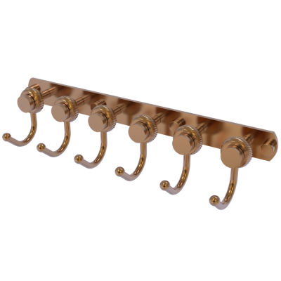 Mercury Collection 6-Position Tie and Belt Rack with Twisted Accent