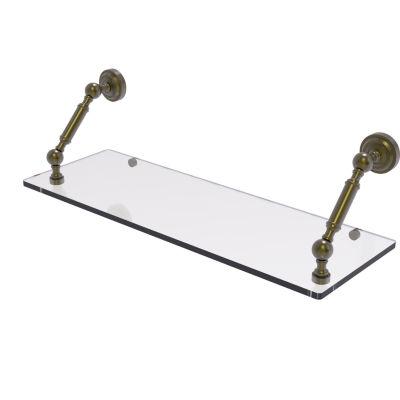 Allied Brass Dottingham Collection 24 Inch Floating Glass Shelf