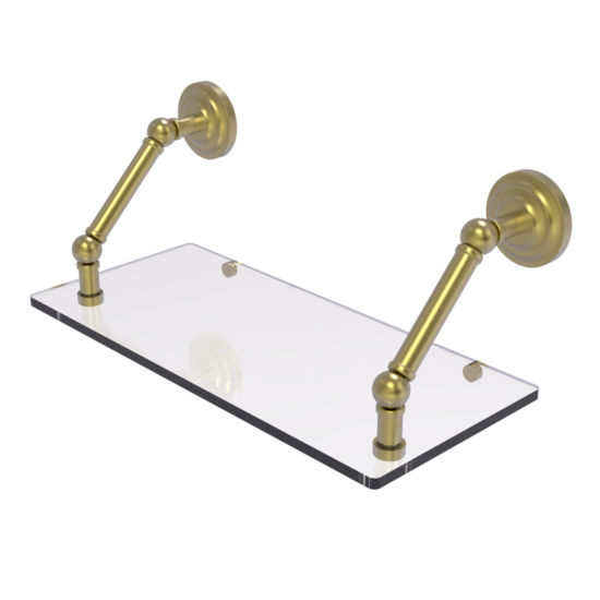 Allied Brass Prestige Que New Collection 18 Inch Floating Glass Shelf