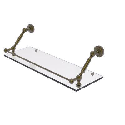 Allied Brass Dottingham 24 Inch Floating Glass Shelf with Gallery Rail