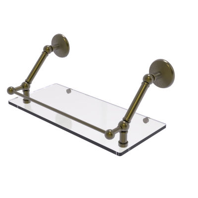 Allied Brass Prestige Monte Carlo 18 Inch FloatingGlass Shelf with Gallery Rail