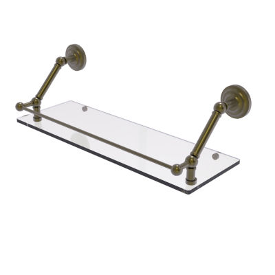 Allied Brass Prestige Que New 24 Inch Floating Glass Shelf with Gallery Rail