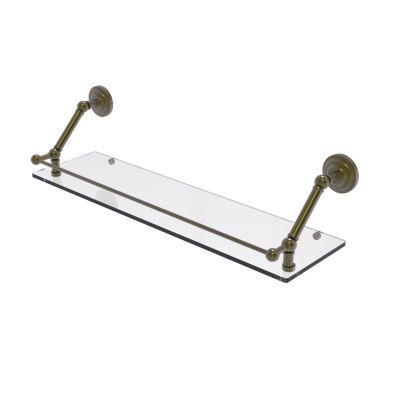 Allied Brass Prestige Que New 30 Inch Floating Glass Shelf with Gallery Rail
