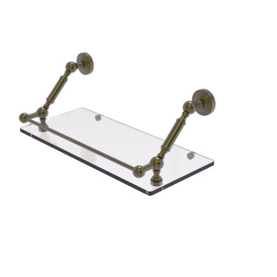 Allied Brass Waverly Place 18 Inch Floating GlassShelf with Gallery Rail