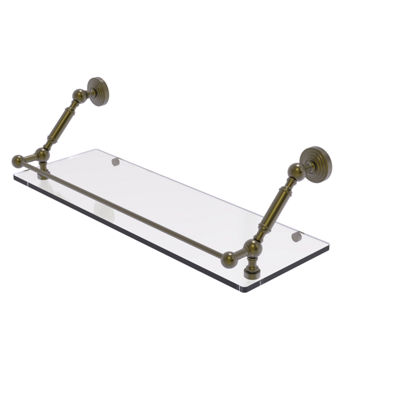 Allied Brass Waverly Place 24 Inch Floating GlassShelf with Gallery Rail