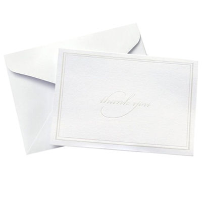 Gartner Studios White Pearl Border Thank You Card