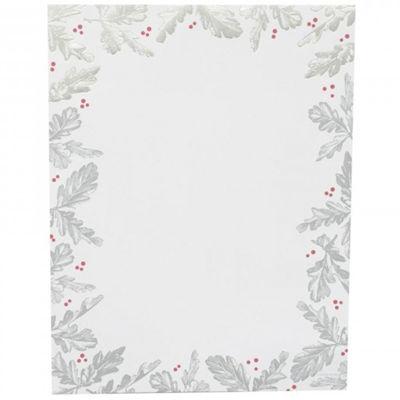 Gartner Studios Siliver Leaf Foil Holiday Stationery - 40ct