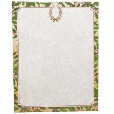 Gartner Studios Holly Wreath Foil Stationery - 40 CT
