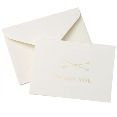 Gartner Studios Gold Foil Heart & Arrow Thank You