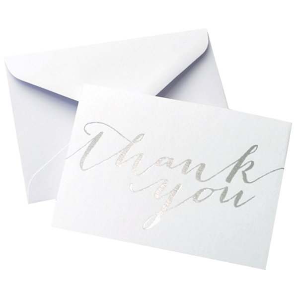 Gartner Studios Silver Foil Thank You Card