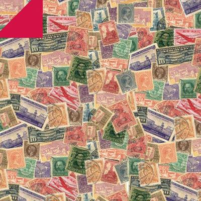 Gartner Studios 12 x 12 Scrapbook Paper Postage Stamps