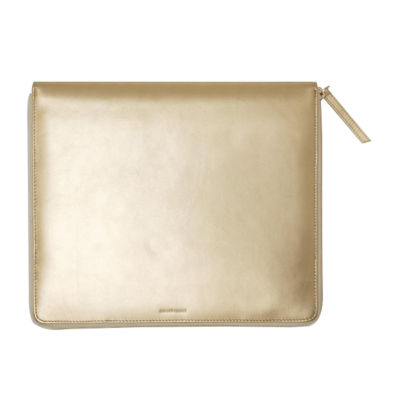 Tablet Folio: Gold Leather