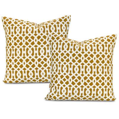 Exclusive Fabrics & Furnishing Nairobi Desert Printed Cotton Throw Pillow Cover - Set of 2