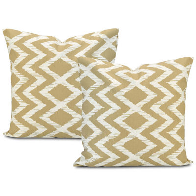 Exclusive Fabrics & Furnishing Palu Printed Cotton Throw Pillow Cover - Set of 2