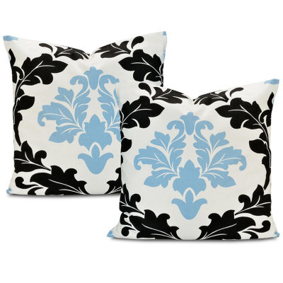 Exclusive Fabrics & Furnishing Deauville Printed Cotton Throw Pillow Cover - Set of 2