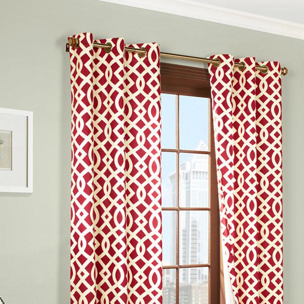 Trellis Grommet-Top Curtain Panel Pair
