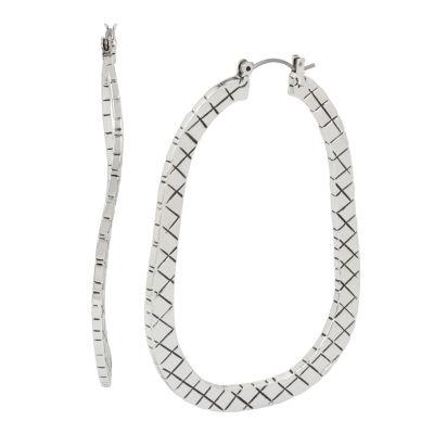 Libby Edelman Brass 2 3/4 Inch Hoop Earrings
