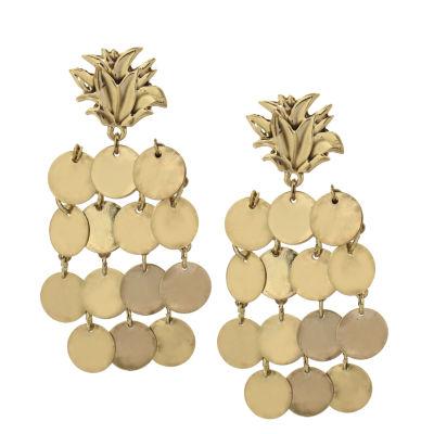 Libby Edelman Brass Drop Earrings