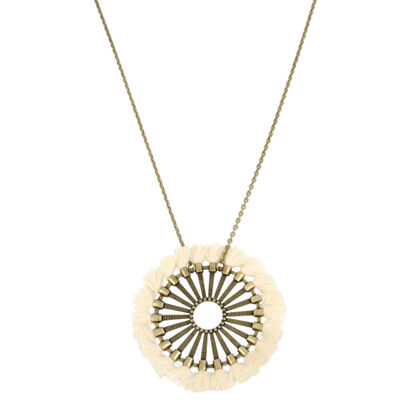 Libby Edelman Womens Brass Pendant Necklace