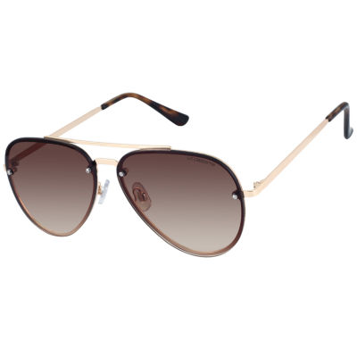 Liz Claiborne Rimless Aviator UV Protection Sunglasses-Womens