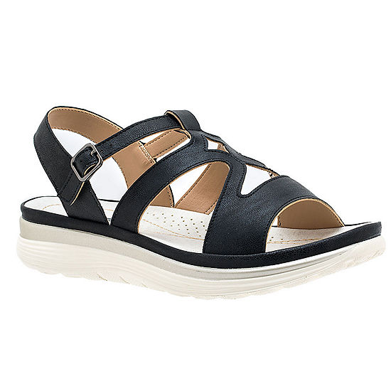 GC Shoes Womens Karly Adjustable Strap Flat Sandals