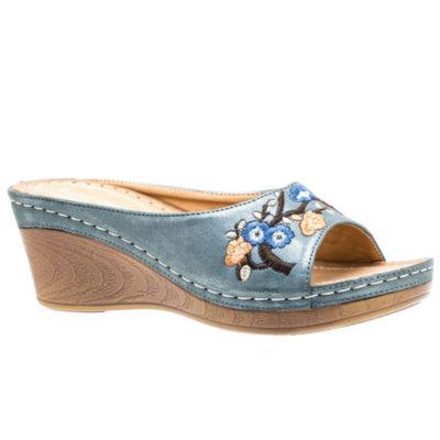 GC Shoes Bonita Womens Wedge Sandals
