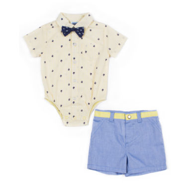 Little Lass 3-pc. Short Set Baby Boys