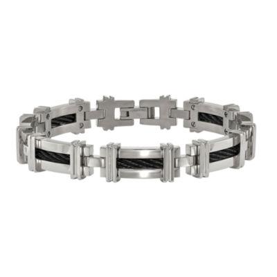 Edward Mirell Mens 8 1/2 Inch Titanium Link Bracelet