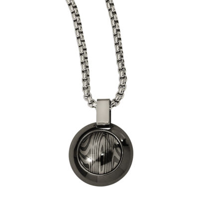 Edward Mirell Mens Titanium Pendant Necklace