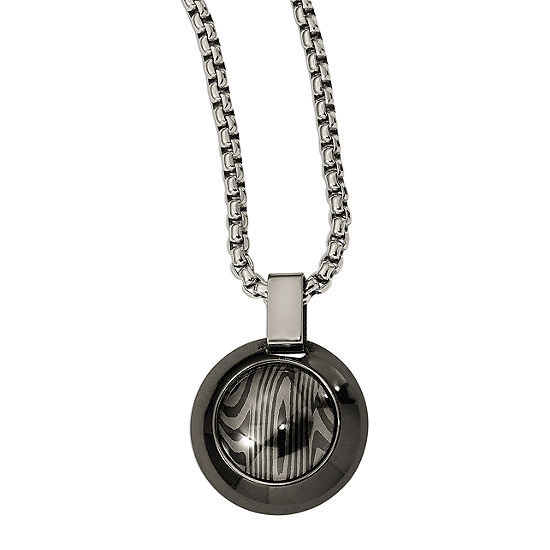 Edward Mirell Mens Titanium Pendant Necklace