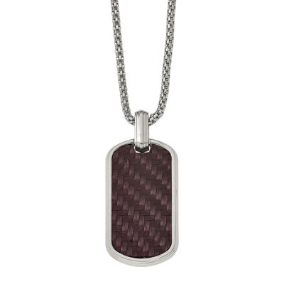 Edward Mirell Mens Stainless Steel Pendant Necklace