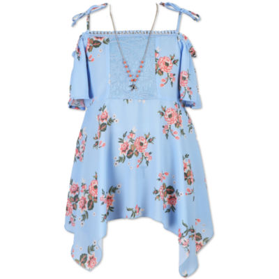 Speechless Floral Off Shoulder Top - Girls' 7-16