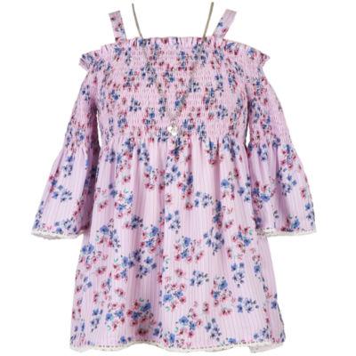 Speechless 3/4 Sleeve Floral Peasant Top - Girls' 7-16